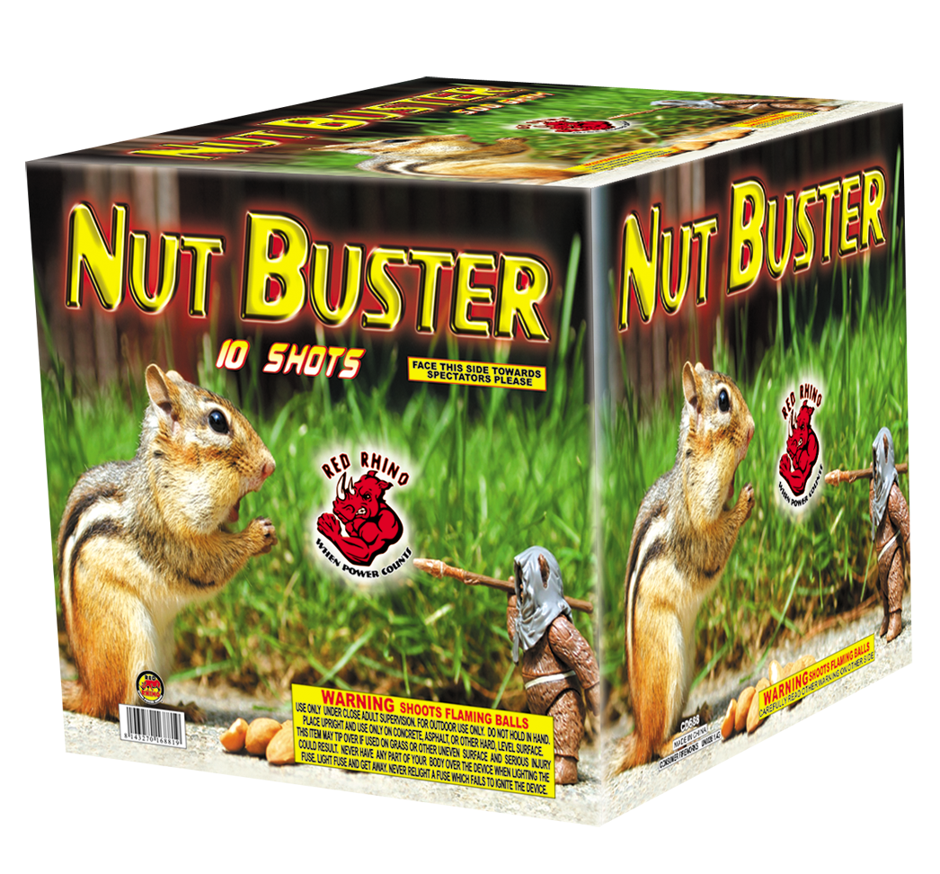 http://www.intergalacticfireworks.com/wp-content/uploads/2014/05/Nut_Buster_500_Gram_Aerial_Repeaters_Red_Rhino.png
