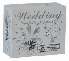 Wedding Confetti Poppers